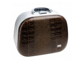 Чемодан для парикмахерских инструментов DEWAL, иск.кожа, коричневый 26,0x15,0x19,0см