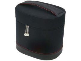 Сумка для парикмахерских инструментов DEWAL, полимерный материал, черно-красная, 27х20х27,5см